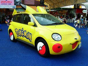 TOYOTA_ist_Pikachu_Car