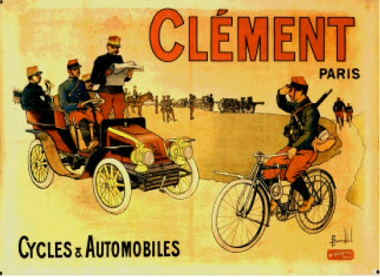 1903_poster_Advertising_Clement_Cycles_and_Automobiles._(Musee_Automobile_de_Reims)