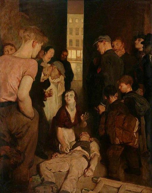 Philpot,_Glyn_Warren;_A_Street_Accident;_Manchester_Art_Gallery
